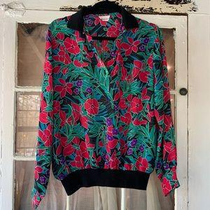 Vintage 80's Lauren Lee Long Sleeve Top